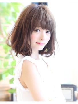 40代 髪型 ミディアム くせ毛 丸顔☆似合う髪型はどうやって作るの?