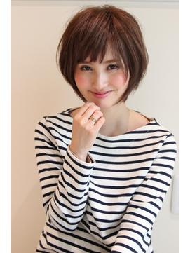 40代 髪型 ショート 面長 くせ毛♪目指すはひし形シルエット