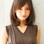 40代 髪型 ミディアム ストレート 前髪♪艶めく髪で若見え度アップ!!