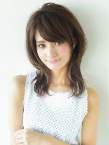 40代 髪型 ミディアム レイヤーウルフ☆かわいくて素敵なオールマイティースタイル♪