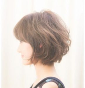 40代髪型はショートボブ&パーマで素敵に♡
