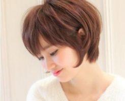 40代 髪型 ショート 丸顔 太め☆押さえるポイントは3つ!小顔効果を狙って