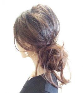 40代 髪型 ロング まとめ髪☆簡単にゴムのみでできるスタイルを教えて♡